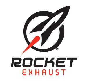 Rocket Exhaust Logo vertikal