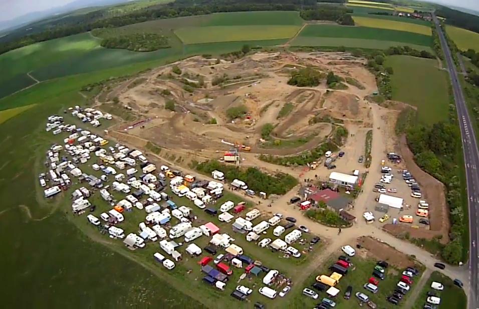 Luftbild vom 2.MSR Rennen 2014 - Schwarze Pfütze