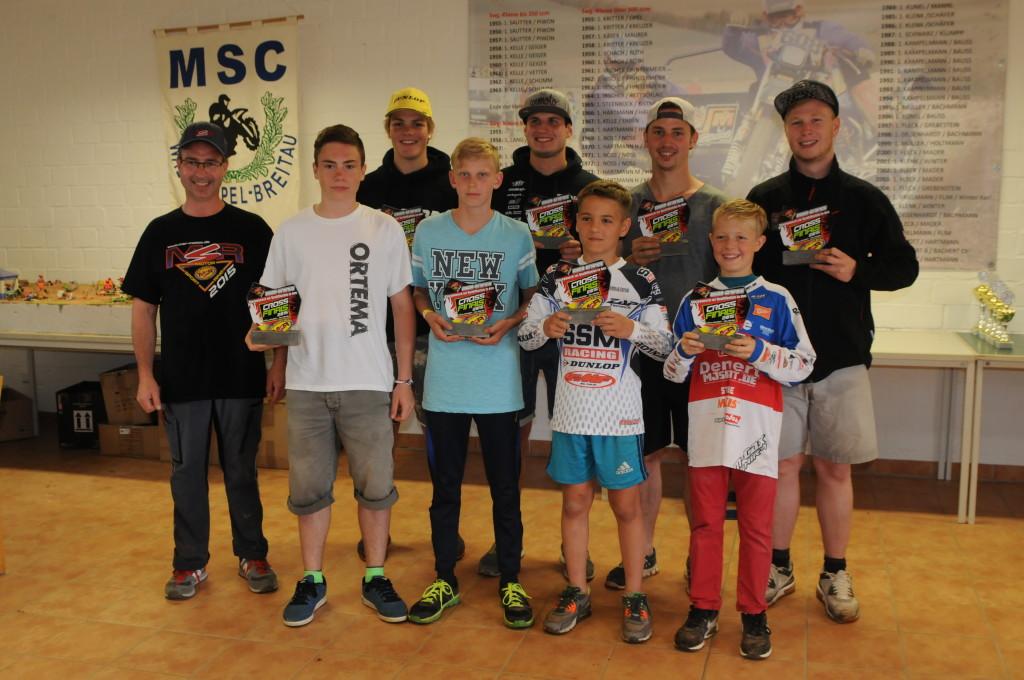 Das MSR Team für das CROSS FINALS 2015